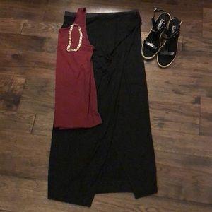 NWT Banana Republic maxi faux wrap skirt